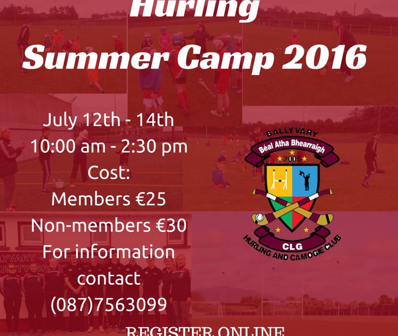 Hurling Camp 2016